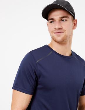 Erkek Mavi Active Reflektif T-Shirt