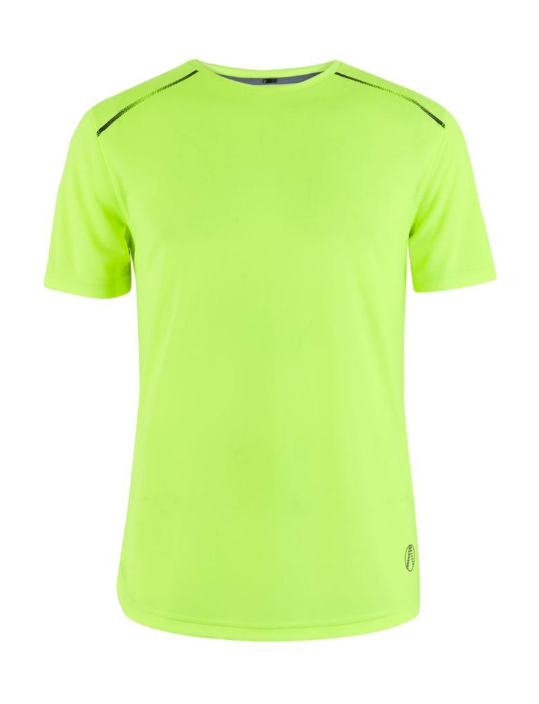 Erkek Sarı Active Reflektif T-Shirt