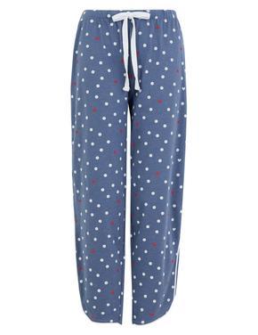 Kadın Mavi Desenli Pijama Altı