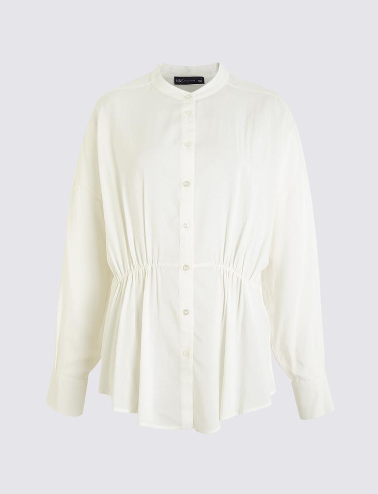 Kadın Beyaz Armürlü Bluz