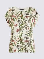 Kadın Krem Kısa Kollu T-Shirt