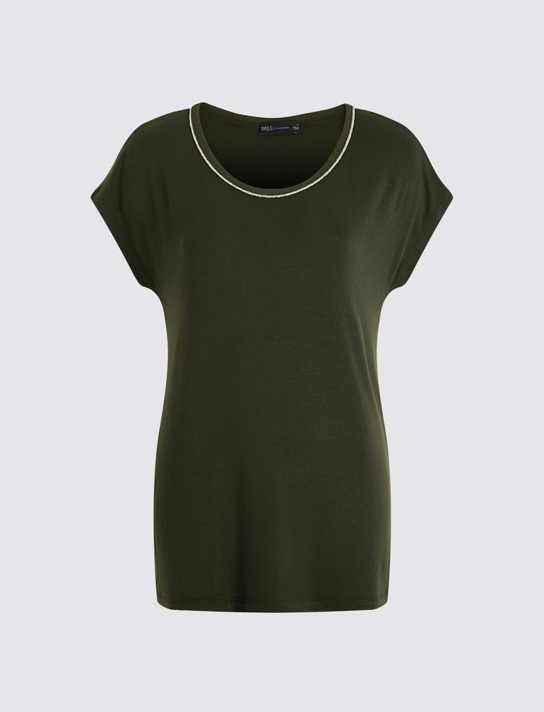 Kadın Yeşil Kısa Kollu T-Shirt