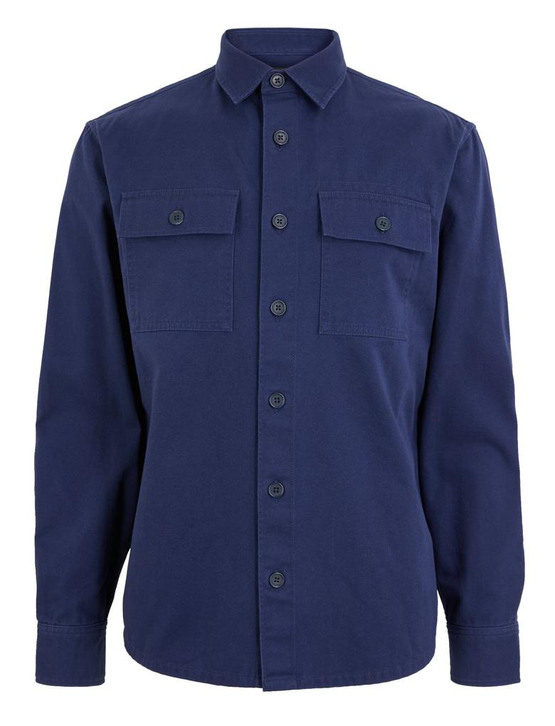 Erkek Mavi Saf Pamuklu Gömlek