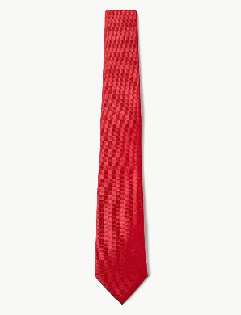 Kırmızı Özel Dokulu Kravat