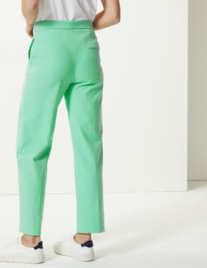 Yeşil Straight 7/8th Leg Pantolon
