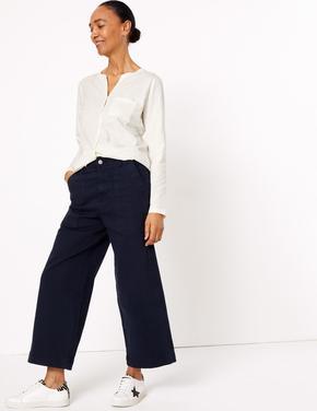 Kadın Beyaz Uzun Kollu Popover Gömlek