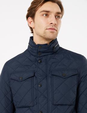Erkek Lacivert Stormwear™ Kapitone Ceket