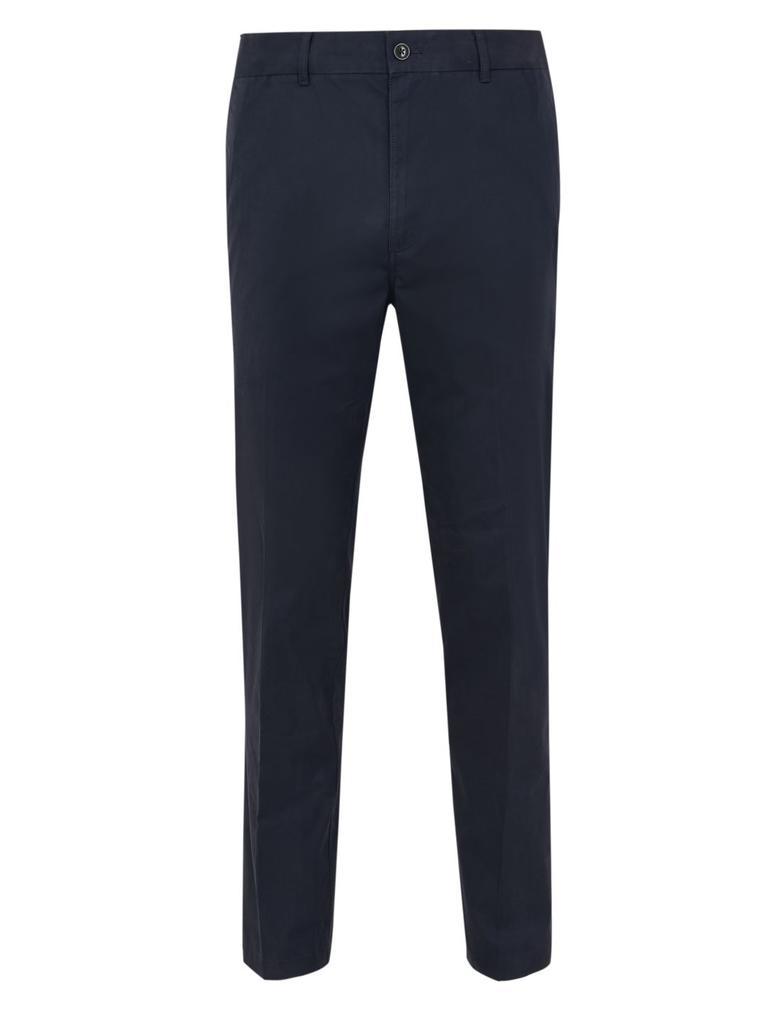 Erkek Lacivert Active Waist™ Pamuklu Chino Pantolon