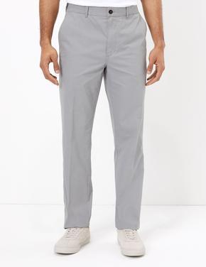 Erkek Gri Pamuklu Chino Pantolon