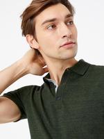 Erkek Yeşil Polo Yaka Kısa Kollu Triko T-Shirt