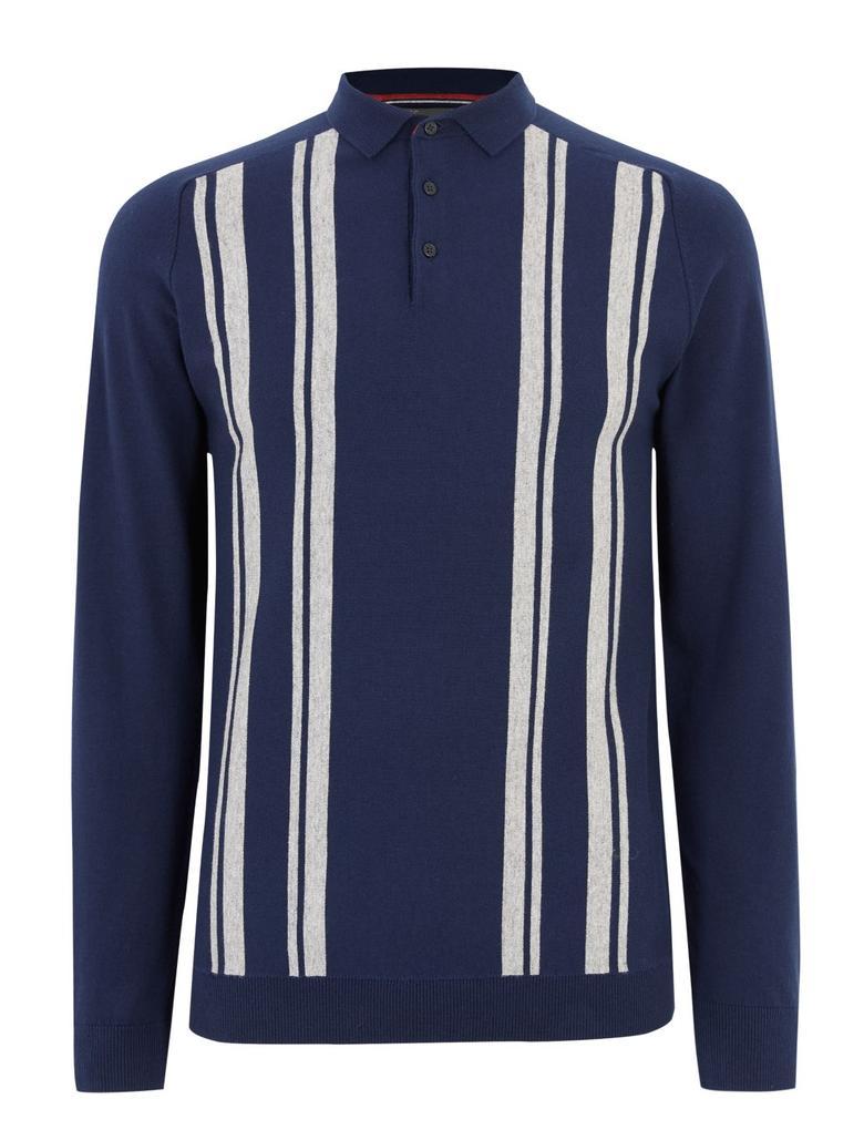 Erkek Lacivert Polo Yaka Triko T-Shirt