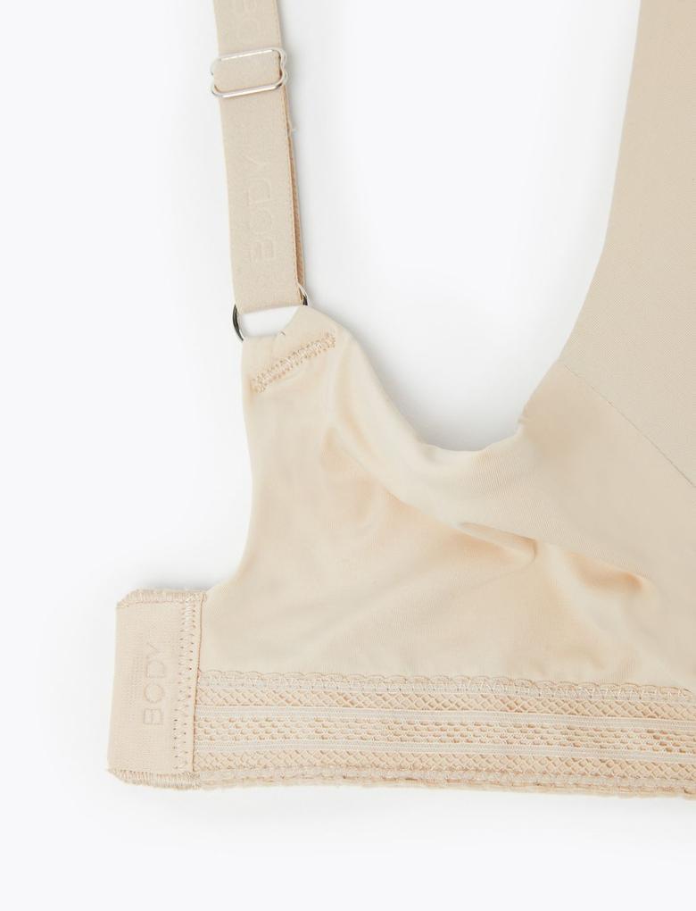 Kadın Bej Body™ Balensiz Push Up Plunge Sütyen