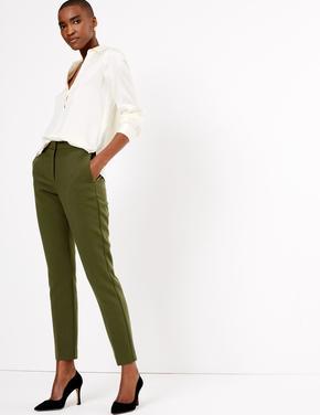 Yeşil Yüksek Belli Pantolon