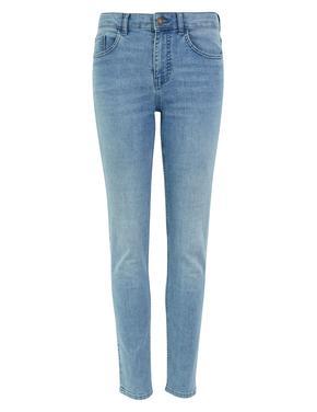 Kadın Mavi Orta Belli Slim Leg Jean Pantolon