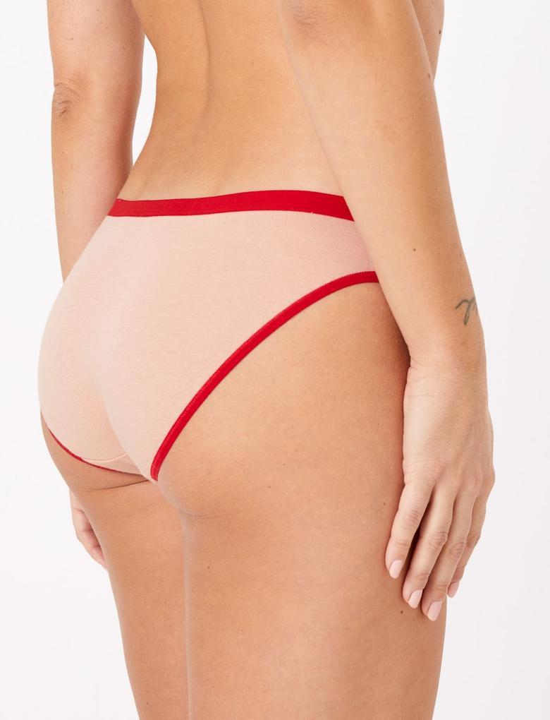 Kadın Multi Renk 5'li Sloganlı Bikini Külot Seti