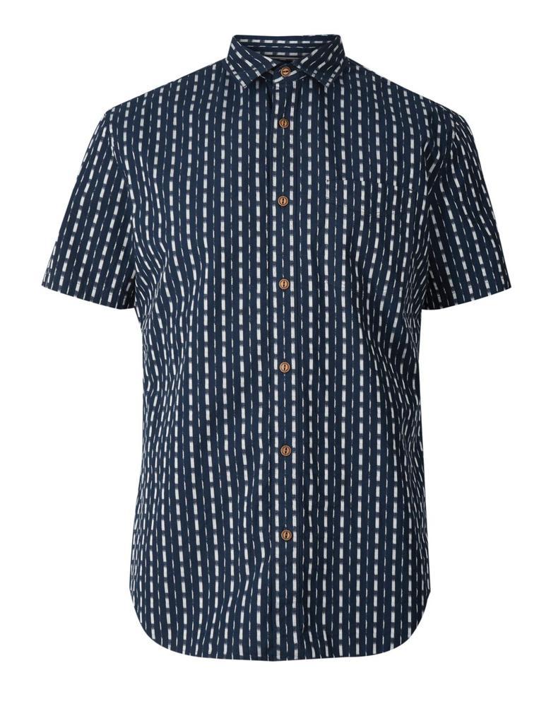 Erkek Lacivert Kısa Kollu Gömlek