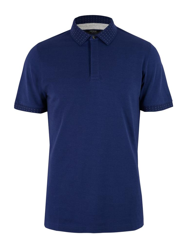 Erkek Lacivert Premium Pamuklu Polo Yaka T-Shirt