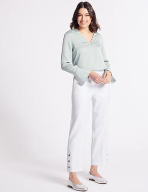 Beyaz Straight Pantolon