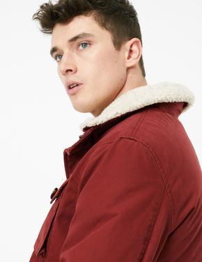 Erkek Kahverengi Cep Detaylı Ceket