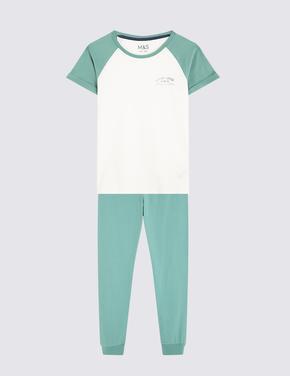 Çocuk Multi Renk 2'li Desenli Pijama Seti