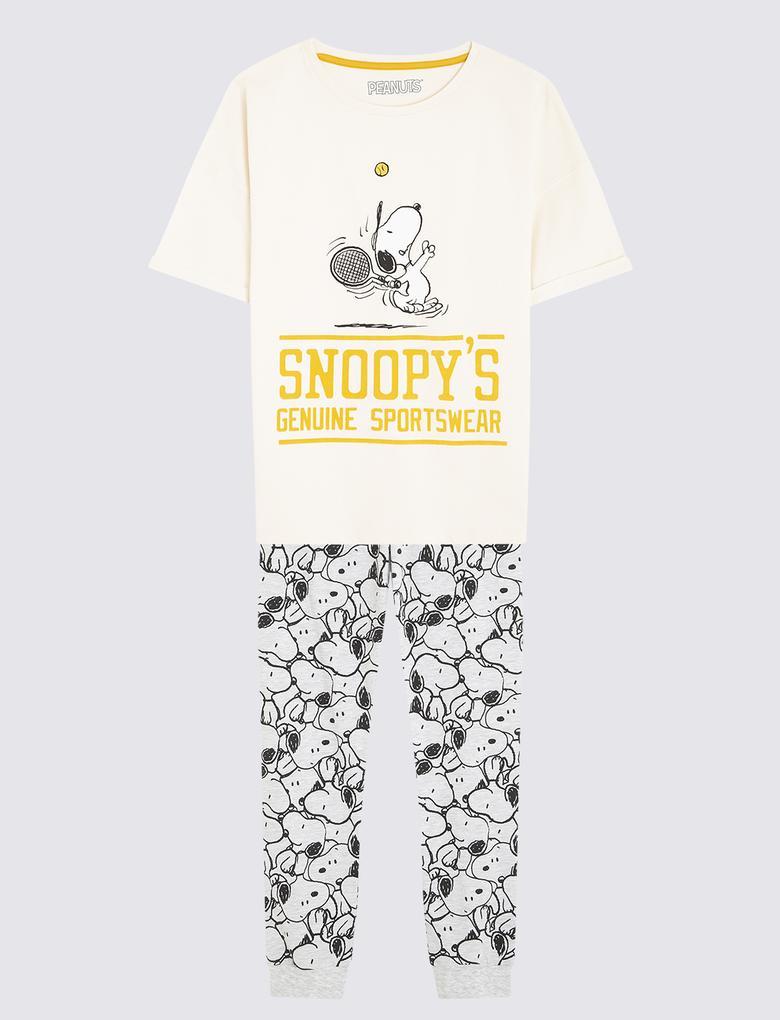 Çocuk Bej Snoopy™ Pijama Takımı