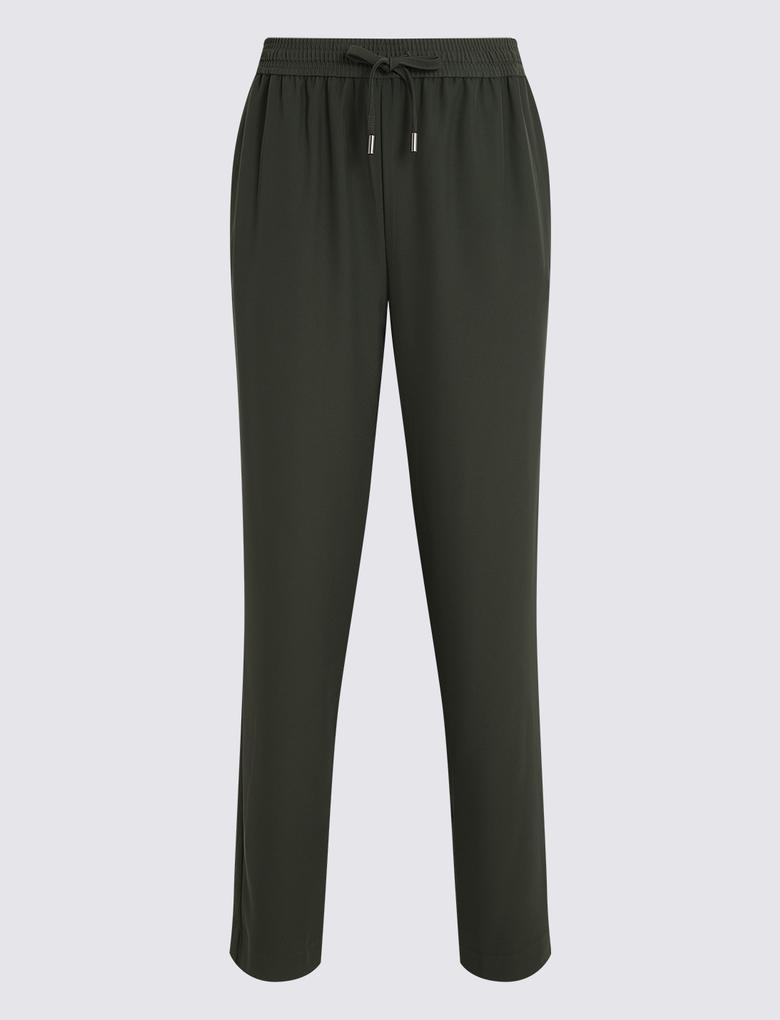 Yeşil Slim Leg Pantolon
