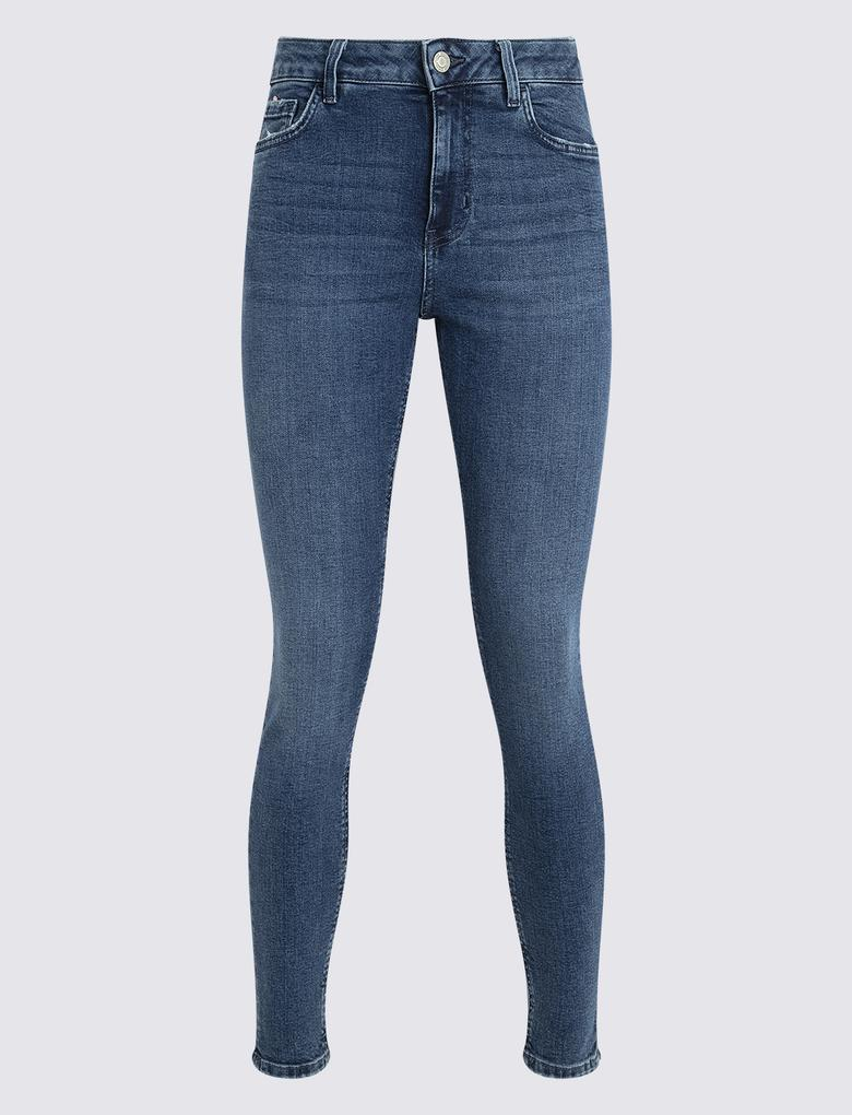 Kadın Mavi Skinny Fit Jean Pantolon