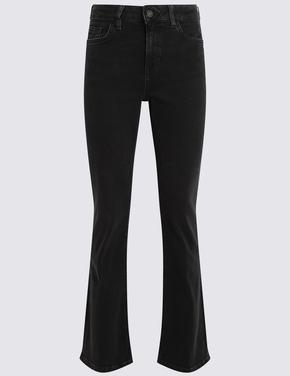 Kadın Siyah Bootcut Jean Pantolon
