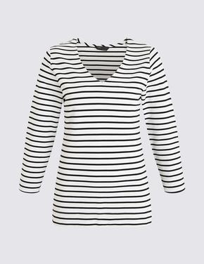 Siyah V Yaka T-Shirt