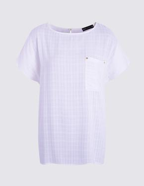Kadın Mor Kısa Kollu T-Shirt