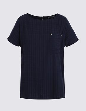 Lacivert Kısa Kollu T-Shirt