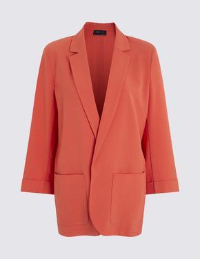 Turuncu Relaxed Blazer Ceket