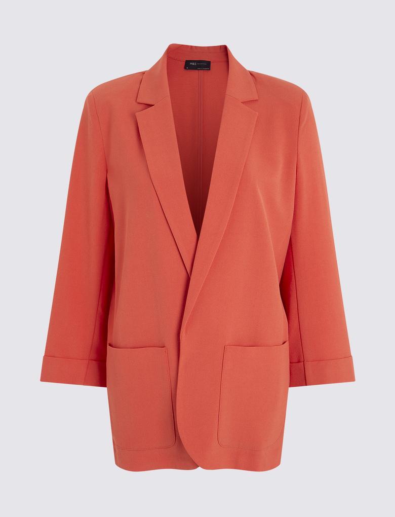 Kadın Turuncu Relaxed Blazer Ceket