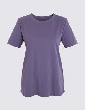 Mavi Kısa Kollu Straight Fit T-Shirt