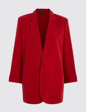 Kadın Kırmızı Relaxed Blazer Ceket