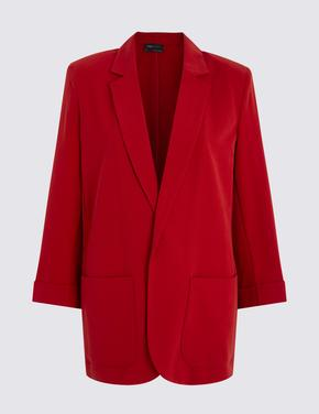 Kırmızı Relaxed Blazer Ceket