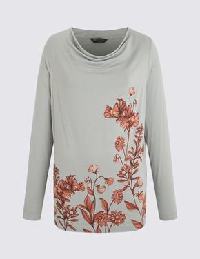 Gri Uzun Kollu T-Shirt
