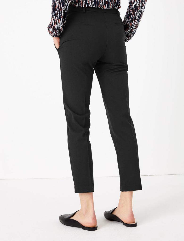 Kadın Siyah Slim Leg Ankle Pantolon
