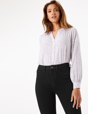 Kadın Siyah Şekillendirici Yüksek Belli Skinny Jean Pantolon