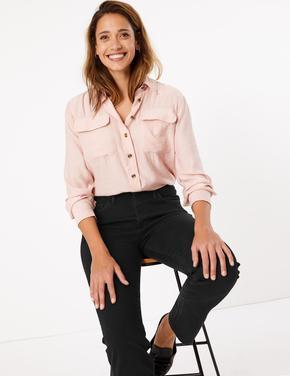 Kadın Siyah Şekillendirici Yüksek Belli Straight Jean Pantolon