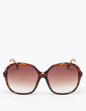 Kadın Kahverengi Kare Güneş Gözlüğü