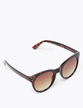Kadın Kahverengi Yuvarlak Güneş Gözlüğü
