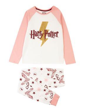 Çocuk Pembe Harry Potter Uzun Kollu Pijama Takımı