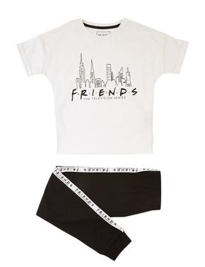 Çocuk Beyaz Friends Kısa Kollu Pijama Takımı