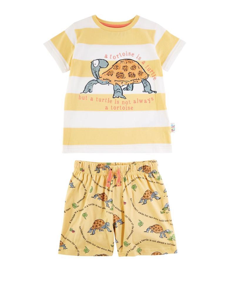 Çocuk Sarı Roald Dahl™ & NHM™ Kaplumbağa Pijama Takımı