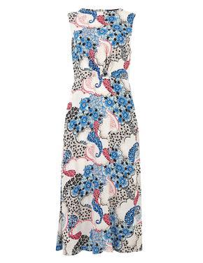 Kadın Multi Renk Çiçek Desenli Elbise
