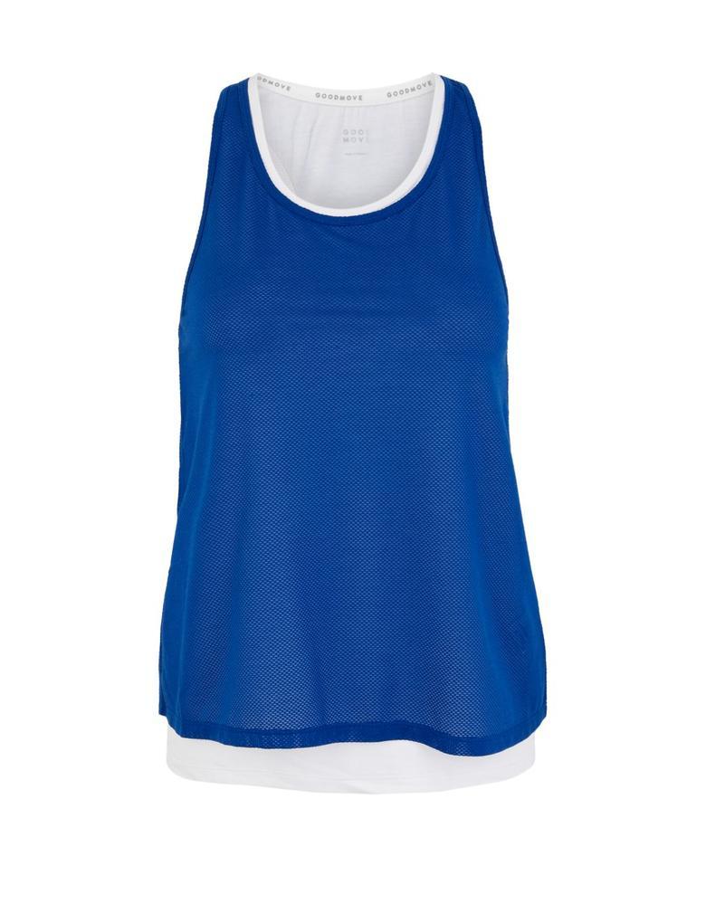 Kadın Mavi 2'li Dokulu Atlet Seti