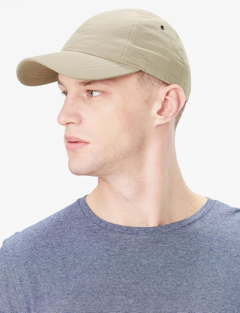 Erkek Kahverengi Saf Pamuklu Şapka
