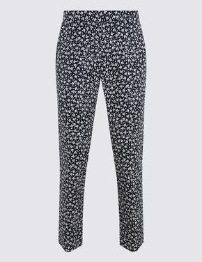 Kadın Lacivert 7/8 Croped Pantolon