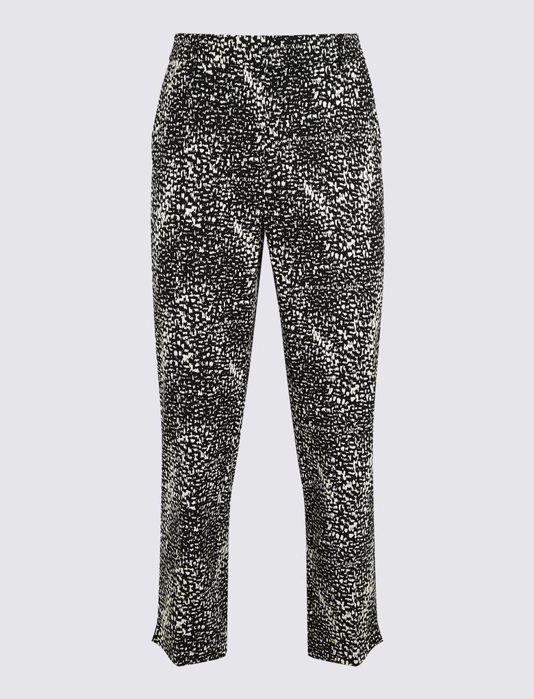 Kadın Siyah 7/8 Croped Pantolon